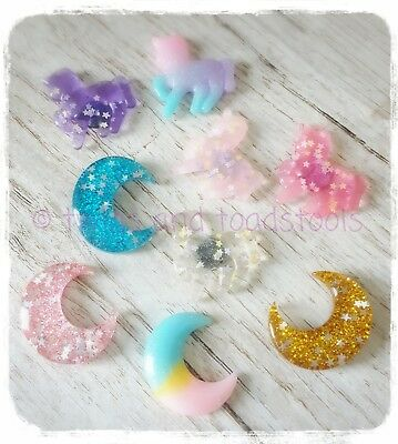 unicorns,crescent moons & sparkles magnets stocking filler advent calender