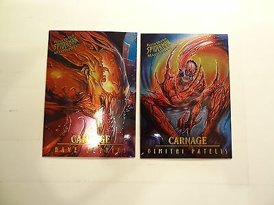 1995 Fleer Ultra Spider-Man Masterpieces Chase Cards!! #'s 1 and 3! Chrome!!