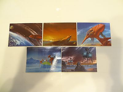 1993 Roger Dean Metallic Storm Chase Cards!! #'s MS1-MS5!!! LOOK!!! FPG!!!