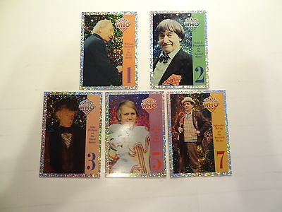 1994 Doctor Who Series 1 Prism Chase Cards!!! #'s 1,2,3,5, & 7!!! LOOK!!!