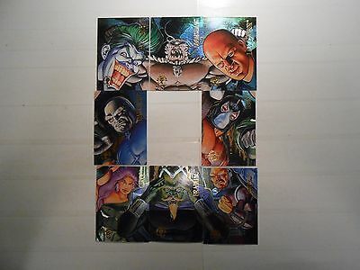 1995 DC Gathering of Evil Chase Cards!!! #'s 1-4 and 6-9!!! LOOK!!! GREAT BUY!!!