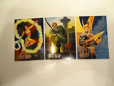 1994 DC Skybox Master Series Chase Cards!!! #'s F1+F3+F4!!! LOOK!!!