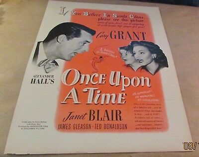 Movie Ad---ONCE UPON A TIME---<1944>---CARY GRANT---JANET BLAIR