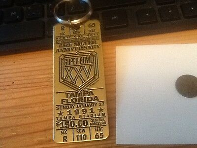 Vintage SUPER BOWL GAME TICKET 1991 as shown lot 30A1