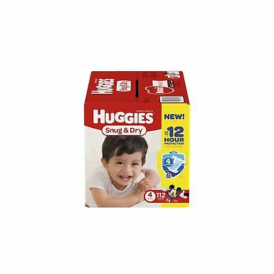 HUGGIES Snug & Dry Diapers Size 4 112 Count (Packaging May Vary)