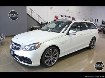 2014 Mercedes-Benz E-Class E 63 AMG S-Model Wagon; White/Black w/ 19k Miles! 2014 Mercedes-Benz E 63 AMG S-Model Wagon; White/Black w/ 19k Miles! Automatic 4
