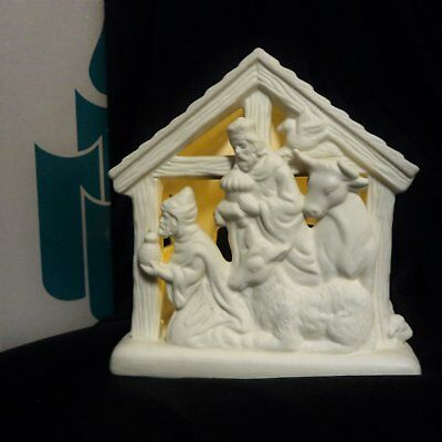 PARTYLITE Bisque Porcelain O LITTLE TOWN KINGS #P7314 Christmas Tealight holder