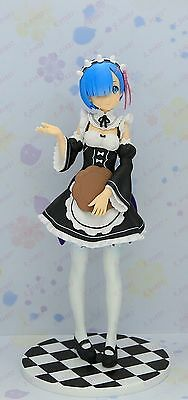 Re Life in a different world from zero Rem pvc maid figure upgrade ver. & poster