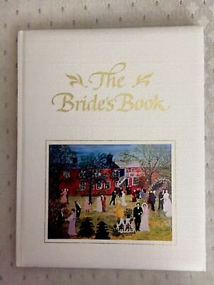Bride's Book Memories Keepsake Fabric Hard Cover Wedding Artworks Fill In Pages