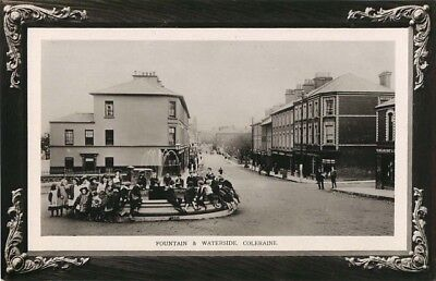 Co Derry Fountain & Waterside Coleraine Animated Real Photo