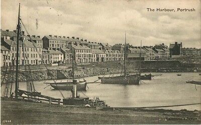 Co Antrim The Harbour Portrush Posted 1905