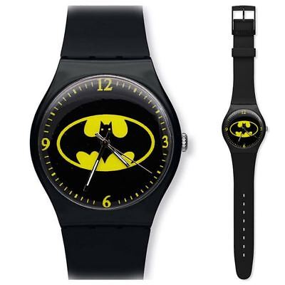 Children's Watch Black Batman Superhero Silicon Banded Wrist Watch for Boys and