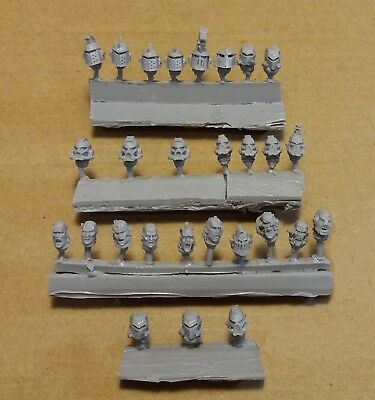 Warhammer 40k   World Eaters Heads 28 pcs (Handmade conversion)