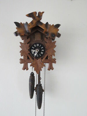 Vintage Black Forest Cuckoo Clock For Spares Repair