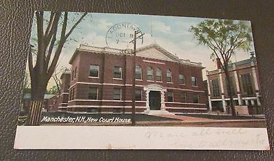 Old Postcard<MANCHESTER, NEW HAMPSHIRE>{ COURT HOUSE---1907}