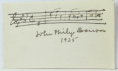 "John Philip SOUSA: ""Stars and Stripes Forever"" - Autograph Musical Quotation"