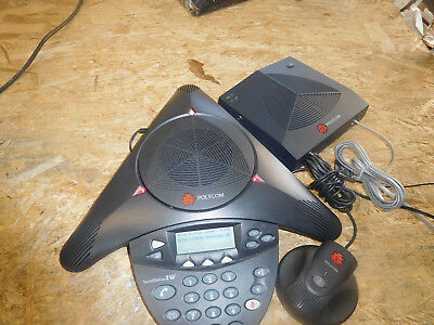 POLYCOM SoundStation 2W Wireless Conference Phone with Base and 2 Power Supply