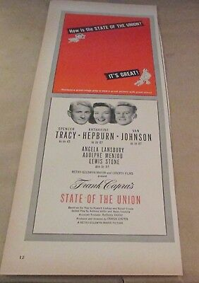 Movie Ad---STATE OF THE UNION---<1948>---SPENCER TRACY---KATHERINE HEPBURN