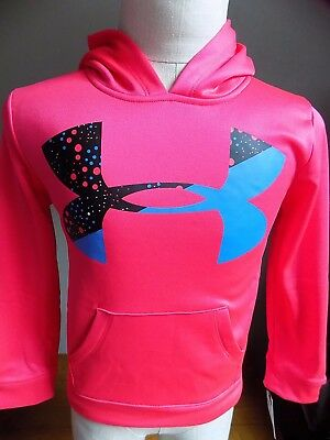 Nwt Youth Girl's Under Armour Big Logo Hoodie Sweatshirt $40 Sizes  4,5,6, & 6X