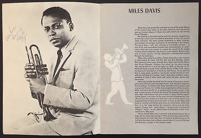"Miles DAVIS (Jazz): Early Signed Photograph in ""Dimensions in Jazz"""