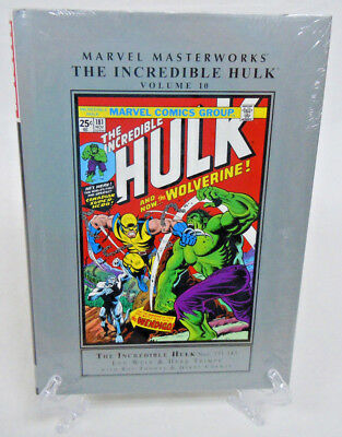 Incredible Hulk Vol 10 1st Wolverine Marvel Masterworks HC Hard Cover New Sealed