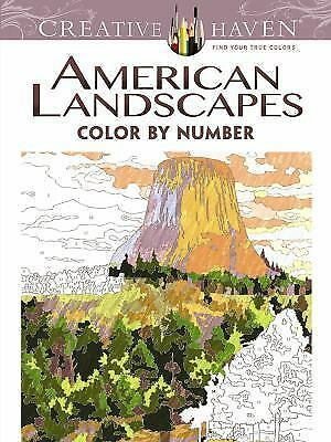 Creative Haven American Landscapes Color by Number Coloring Book (Adult Color...