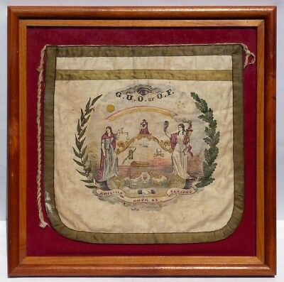 African-American Grand United Order of Odd Fellows rare ceremonial apron.