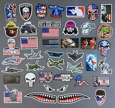 USA Hard Hat Stickers (40) HardHat Sticker & Decals, Helmet, Flask, Bottle