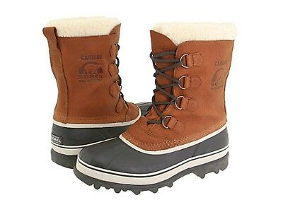 New Men's Sorel Caribou Wool Tabacco Cold Weather Winter Boots  *NIB*