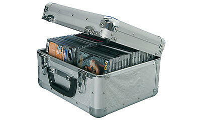 Aluminium Cd Storage Box Flight Case For 40 Cd's Lockable Detachable Lid 127.064