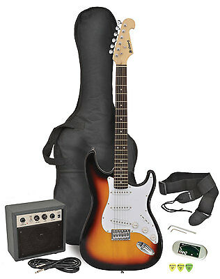 CAL63PK electric guitar + amp package - sunburst
