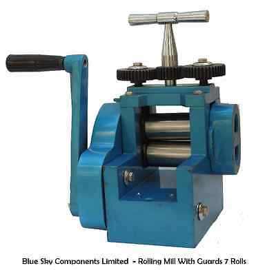 Combination Rolling Mill with 7 Rolls 3 Inch Roll Rolling Mill Jewellery