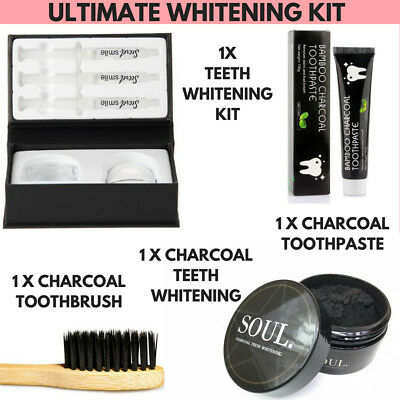 Activated Charcoal Teeth Whitening Toothpaste Coco Hi Powder Carbon Smile Kit