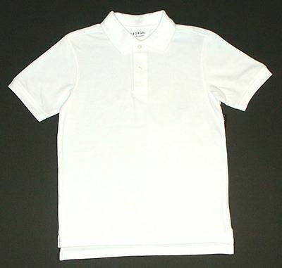 George NEW Lot of 5 White School Uniform Short Sleeve Shirts Boys Size L 10-12