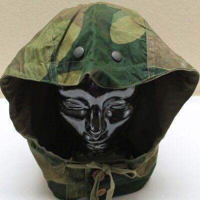 used Belgian m56 winter lined camouflage field jacket hood each H9859