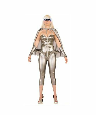 Futuristic Silver Corset Outer Space Lady Gaga Disco Womens Costume Accessory