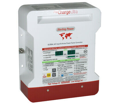Sterling Power Pro Chargeur Ultra PCU1220 12V 20A 3 Branches Marine Chargeur