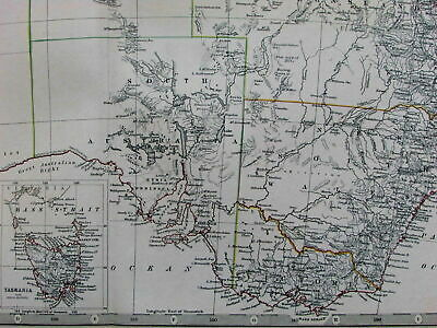 Australia New South Wales Victoria 1868 scarce variant Johnston map Tooley #758