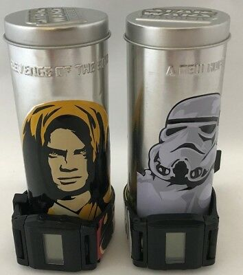 Set of 2 Star Wars Reversible Watches With Tins, Burger King 2005