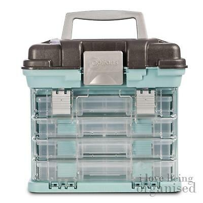 Creative Options Small Grab N Go Rack System with 4 Organisers, Soft Blue