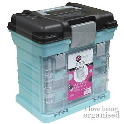 Storage Box Crafts Hobbies Medium Grab N Go Rack System w/ 3 Organisers