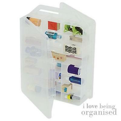 Sewing Bobbin Thread Box 46 Clear Compartments | Creative Options Double Sided M