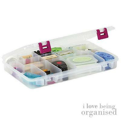 Large Clear Organiser Box | 3-28 Customisable Compartments | Creative Options Pi