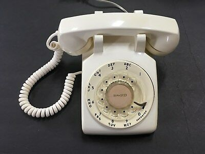 Vintage Stromberg-Carlson Northern Telecom Rotary Dial Telephone Bell Beige