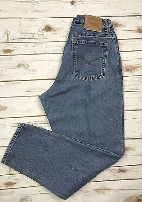 Levis Vintage 550 Relaxed Tapered High Waist Mom Jeans Size 16M 32X31