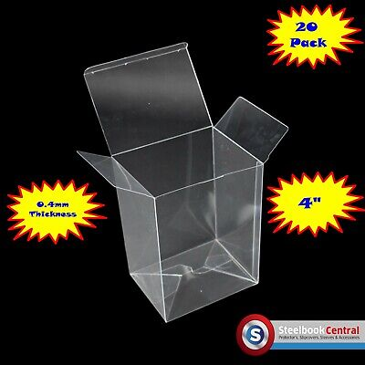"FP1 Display Box Cases / Protectors For 4"" Funko Pop Vinyl (Pack of 20)"