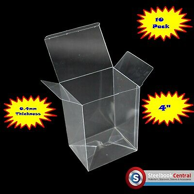 "FP1 Display Box Cases / Protectors For 4"" Funko Pop Vinyl Protector (Pack of 10)"