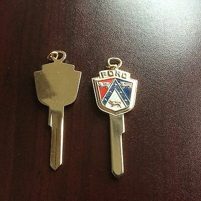 #8. NICE  Vintage Ford Gold Plated Key Blank 50s/60s