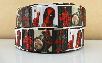 Grosgrain Ribbon Deadpool Hero (1m, 2m or 5m)