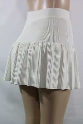 NEW BCBG MAXAZRIA Valeria Ruffle Hem Skirt SZ XS Authentic color Beige Gardenia